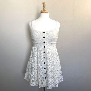 Dresses & Skirts - Ivory Lace Button Dress
